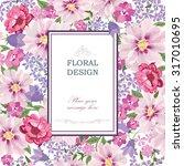 Floral Background. Flower...