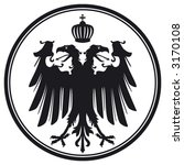 vector double headed eagle with ... | Shutterstock .eps vector #3170108