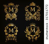 Set Of Gold Monogram For...