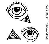 eye eyes icon black white... | Shutterstock .eps vector #317015492