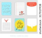 set of 6 creative journaling... | Shutterstock .eps vector #317019938