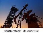 oil pump  oil industry equipment | Shutterstock . vector #317020712