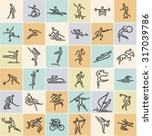 linear sports icons set. modern ... | Shutterstock .eps vector #317039786