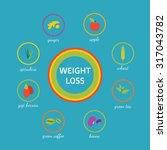 vector 8 superfoods natural... | Shutterstock .eps vector #317043782