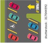parking or park zone design ...   Shutterstock .eps vector #317044592