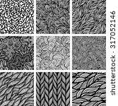 set of nine seamless patterns ... | Shutterstock .eps vector #317052146