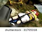 Accident victim - stock photo