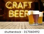 american craft beer | Shutterstock . vector #317060492