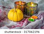 Halloween Decoration On Table ...