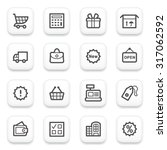 shopping contour icons on white ... | Shutterstock .eps vector #317062592