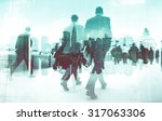 abstract image of business... | Shutterstock . vector #317063306
