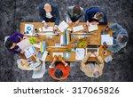 business people meeting... | Shutterstock . vector #317065826
