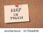 keep in touch | Shutterstock . vector #317066858