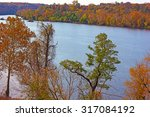 Potomac River With Trees In...