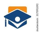 graduation logo vector for... | Shutterstock .eps vector #317091092