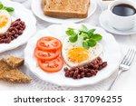 delicious breakfast for... | Shutterstock . vector #317096255