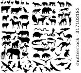 vector big set of animals... | Shutterstock .eps vector #317103182