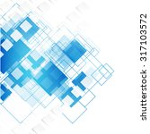 vector blue squares. abstract... | Shutterstock .eps vector #317103572