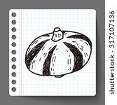 vegetable doodle | Shutterstock .eps vector #317107136