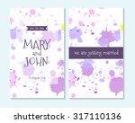 wedding invitation  thank you... | Shutterstock .eps vector #317110136