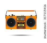 flat vintage orange tape... | Shutterstock .eps vector #317115416