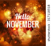icon hello  november vector eps ... | Shutterstock .eps vector #317118518