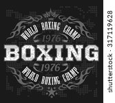boxing label and elements in... | Shutterstock .eps vector #317119628