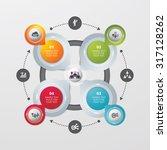 template modern info graphic... | Shutterstock .eps vector #317128262