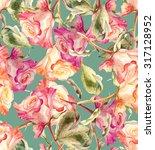 roses seamless pattern | Shutterstock . vector #317128952