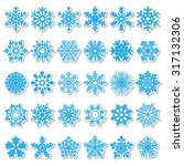 set of vector snowflakes | Shutterstock .eps vector #317132306