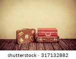 vintage classic brown leather... | Shutterstock . vector #317132882