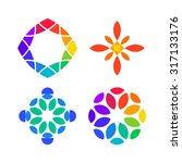 set of colorful design elements.... | Shutterstock .eps vector #317133176