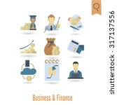 business and finance  flat icon ... | Shutterstock . vector #317137556