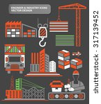 cargo shipping industry... | Shutterstock .eps vector #317139452