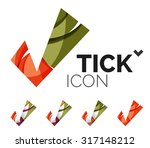 set of abstract ok and tick... | Shutterstock . vector #317148212