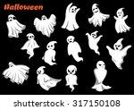 flying halloween monsters and...   Shutterstock .eps vector #317150108