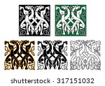 vintage animal pattern with... | Shutterstock .eps vector #317151032