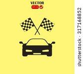 car and finishing flag | Shutterstock .eps vector #317168852