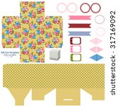 party set. gift box template. ... | Shutterstock .eps vector #317169092