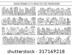 sketch big city architecture... | Shutterstock .eps vector #317169218