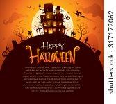 halloween poster | Shutterstock .eps vector #317172062