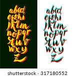 calligraphic alphabet  font ...   Shutterstock .eps vector #317180552