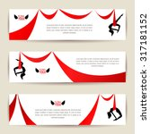 horizontal banners set. black... | Shutterstock .eps vector #317181152