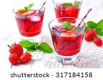 homemade strawberry compote... | Shutterstock . vector #317184158