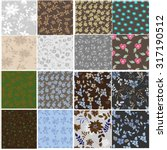 floral seamless pattern set  ... | Shutterstock .eps vector #317190512