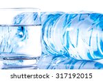 plastic water bottle with a... | Shutterstock . vector #317192015
