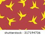 seamless pattern silhouette of... | Shutterstock .eps vector #317194736