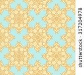 geometric flower pattern gesign.... | Shutterstock . vector #317204978
