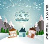 new year winter holidays... | Shutterstock .eps vector #317211986