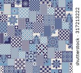 Vector Seamless Patchwork...
